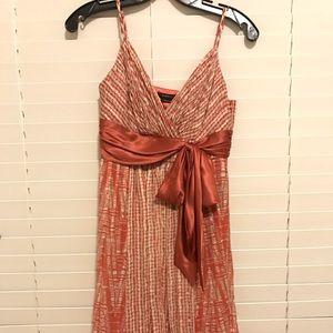 Silk dress.  Coral color